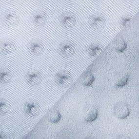 Плюш Минки Китай 180 см на отрез цвет серый фото