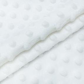 Плюш Минки Китай 180 см на отрез цвет белый фото