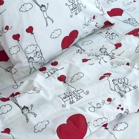 Детское постельное белье из поплина 1.5 сп 10149/1 Любовь-морковь фото