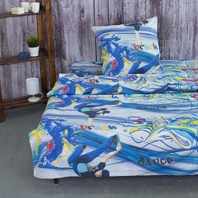 Детское постельное белье из поплина 1.5 сп 1643 фото