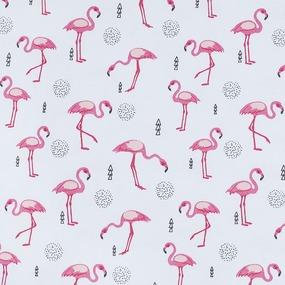Ткань на отрез интерлок пенье Фламинго R175 фото