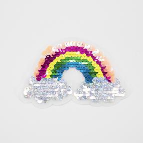 Аппликация радуга на тучках 6,5*9,5см фото