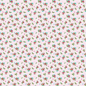Ткань на отрез ситец 95 см 18509/2 Цветы фото