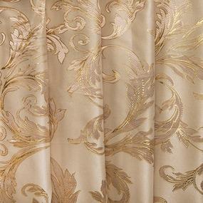 Мерный лоскут портьерная ткань с люрексом 150 см Х7187 цвет 10 бежевый ветка фото