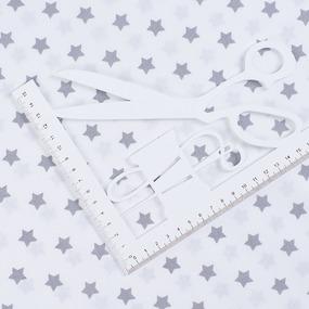 Ткань на отрез поплин 150 см 390А/17 Звездочки цвет серый фото