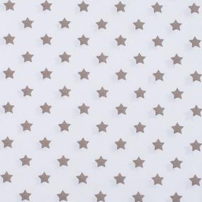 Ткань на отрез поплин 150 см 390А/18 Звездочки цвет кофе фото