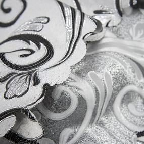 Портьерная ткань с люрексом 150 см на отрез 5222 цвет серый/серебро фото