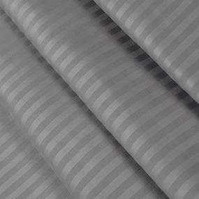 Ткань на отрез Страйп сатин полоса 3х3 см 240 см 140 гр/м2 В012 фото
