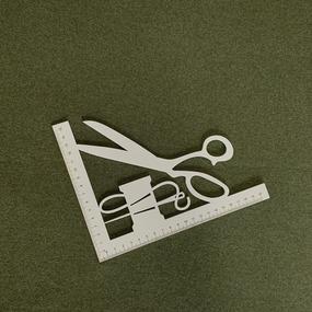 Ткань на отрез кашкорсе с лайкрой Melange 2307-1 цвет хаки фото