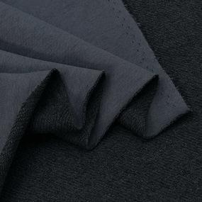 Ткань на отрез футер 3-х нитка диагональный цвет графитовый фото
