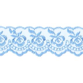 Шитье капрон 40 мм/9 м 968 цвет 020 голубой фото
