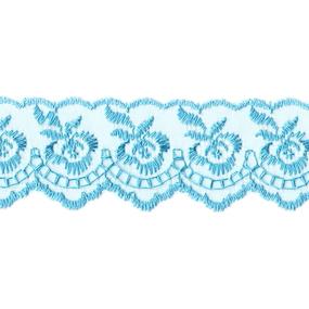 Шитье капрон 40 мм/9 м 968 цвет т-голубой фото