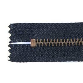 Молния джинсовая антик №5 18 см цвет F322 черный фото
