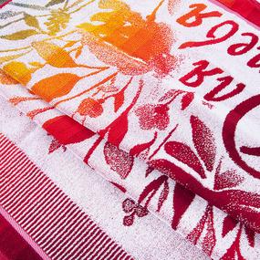 Полотенце махровое 4904 Для тебя 70/140 см цвет красный фото