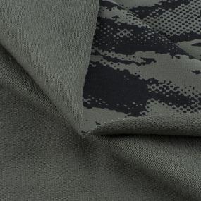 Ткань на отрез футер петля с лайкрой Камуфляж хаки фото
