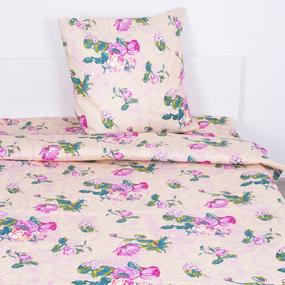 Постельное белье бязь ГОСТ 316/1 Розы цвет бежевый 1.5 сп фото