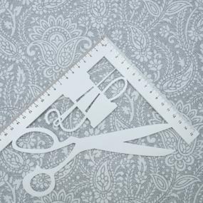 Ткань на отрез рогожка 150 см 3045-2 Персия цвет серый фото