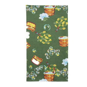 Полотенце вафельное банное 150/75 см 376/6 Баня цвет зеленый фото
