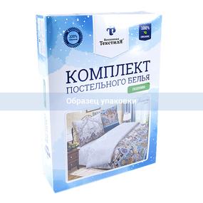 Постельное белье 28256/2 Узор зеленый 1.5 сп поплин фото