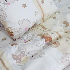 Детское постельное белье из поплина 1.5 сп 1636/1 Мой ангелочек бежевый фото