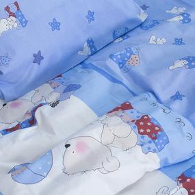Детское постельное белье из поплина 1.5 сп 1636/2 Мой ангелочек голубой фото