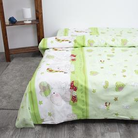 Детское постельное белье из поплина 1.5 сп 1636/3 Мой ангелочек салатовый фото