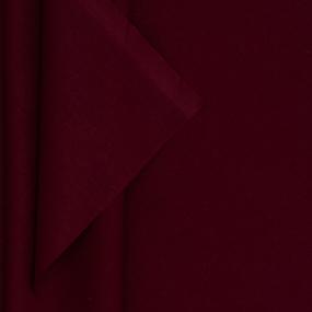 Ткань на отрез поплин гладкокрашеный 115 гр/м2 220 см цвет винный фото