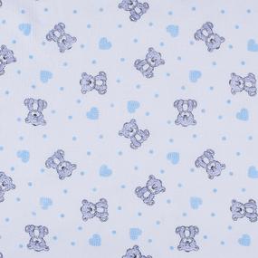 Ткань на отрез фланель б/з 90 см 7871/2 Мишка с сердечками фото