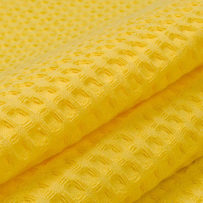 Вафельное полотно гладкокрашенное 150 см 240 гр/м2 7х7 мм премиум цвет 257 желтый фото