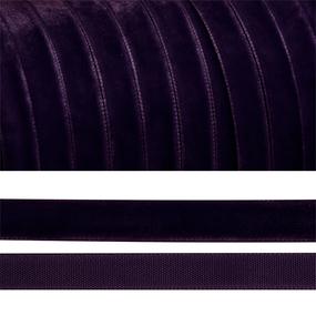 Лента бархатная 10 мм TBY LB1059 цвет т-фиолетовый 1 метр фото