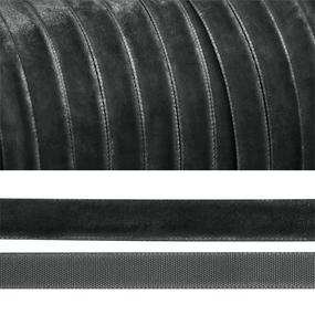 Лента бархатная 10 мм TBY LB1064 цвет т-серый 1 метр фото