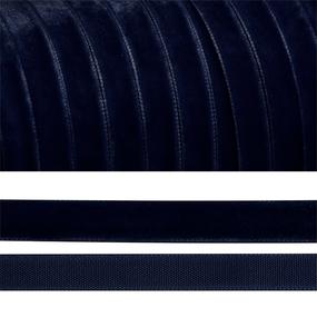 Лента бархатная 15 мм TBY LB1554 цвет т-синий 1 метр фото