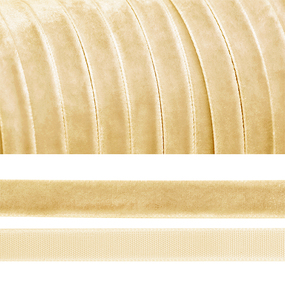 Лента бархатная 20 мм TBY LB2004 цвет молочный 1 метр фото