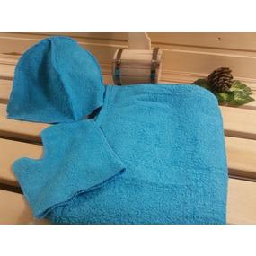 Набор для сауны мужской цвет бирюза фото