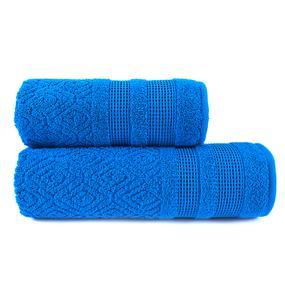 Полотенце велюровое Rombo 70/130 см цвет синий фото