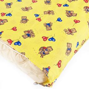 Наматрасник детский бязь набивная 120гр/м2 609/4 цвет желтый 125/73 фото