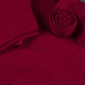 Халат мужской вафельный шалька 240 гр. ячейка 7х7 см 066 бордо р.46 фото