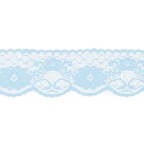 Кружево капрон 60 мм/5 м цвет 430 голубой фото