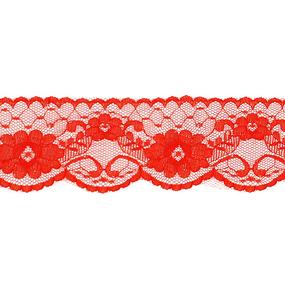 Кружево капрон 60 мм/5 м цвет 430 красный фото