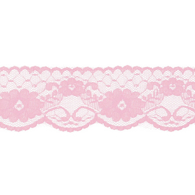 Кружево капрон 60 мм/5 м цвет 430 св-розовый фото