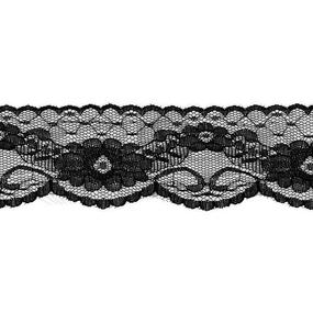 Кружево капрон 60 мм/5 м цвет 430 черный фото