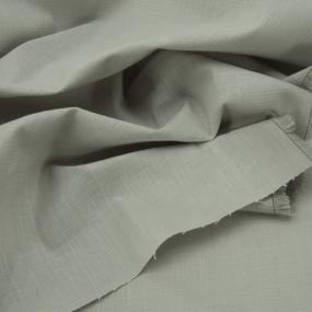 Ткань на отрез лен цвет серый фото