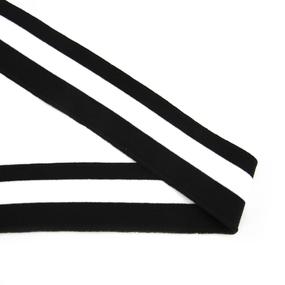 Подвяз 6*80см черно белый фото