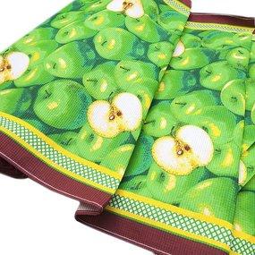 Ткань на отрез вафельное полотно набивное 80 см 310Б фото
