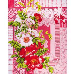 Ткань на отрез вафельное полотно 50 см 170 гр/м2 20057/1 Шиповник фото