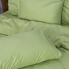 Постельное белье из сатина 40S 016 Травяной 1.5 сп с 2-мя нав. 50/70 фото