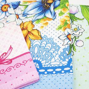 Набор вафельных полотенец 3 шт 45/60 см 10508/1 Весенний букет фото
