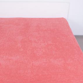 Простынь махровая цвет Коралл 190/200 фото