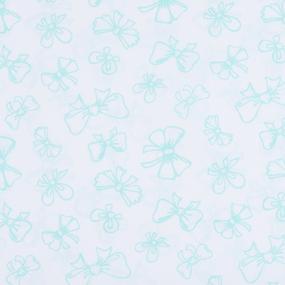 Поплин 150 см 1770/7 Бантики Б/З цвет мята фото