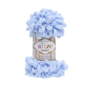 Пряжа ALIZE PUFFY 183 - светло-голубой (100% микрополиэстер) фото